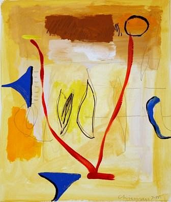 DALE CHISMAN ESTATE, UNTITLED acrylic and graphite on watercolor paper