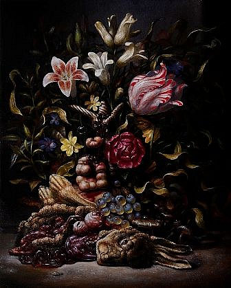 CHRISTIAN REX VAN MINNEN, LOINACHE WITH RABBIT oil on panel