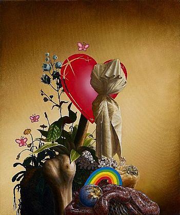 CHRISTIAN REX VAN MINNEN, HEARTHEAD oil on canvas