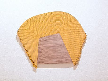 DERRICK VELASQUEZ, UNTITLED 74 vinyl and plywood