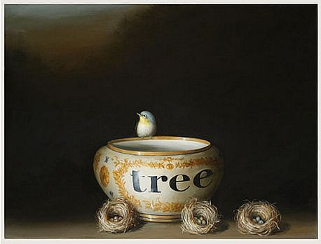 DAVID KROLL, TREE VASE oil on linen