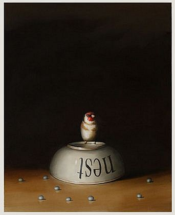 DAVID KROLL, NEST BOWL oil on linen