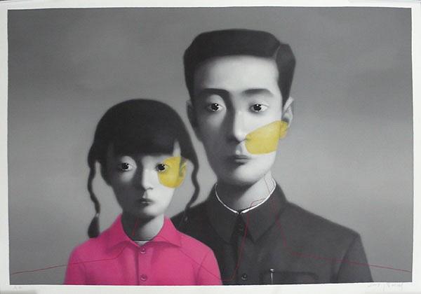 ZHANG XIAOGANG, BIG FAMILY 27/68 silkscreen
