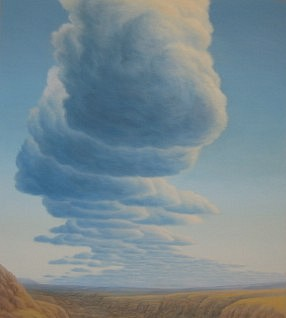 BRUCE LOWNEY, SUMMER CLOUDS oil on canvas