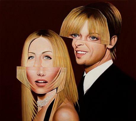 JEFF STARR, BRAD AND JENNIFER oil on canvas