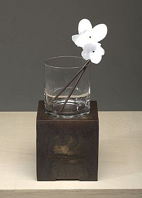 DAVID KIMBALL ANDERSON, BOUQUET (BEGONIA FLOWERS) steel, glass, paint