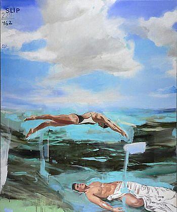 JACK BALAS, SLIP oil on canvas