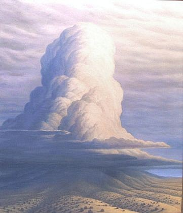 BRUCE LOWNEY, STORM ON THE MOUNTAIN oil on canvas