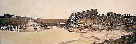 STEPHEN BATURA, western landscape no. 11 casein on panel