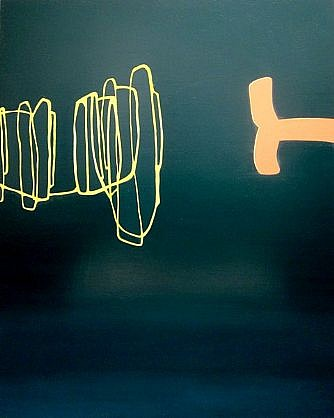 WENDI HARFORD, YOU'VE CHANGED latex acrylic on canvas