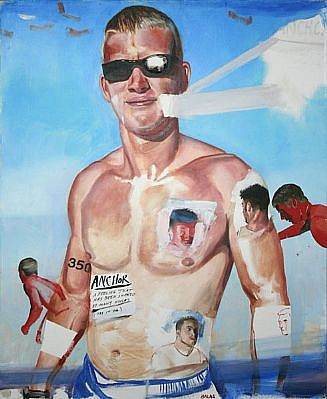 JACK BALAS, ANCHOR oil on canvas
