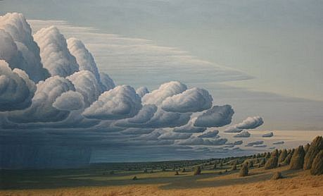 BRUCE LOWNEY, AN APPROACHING STORM oil on canvas