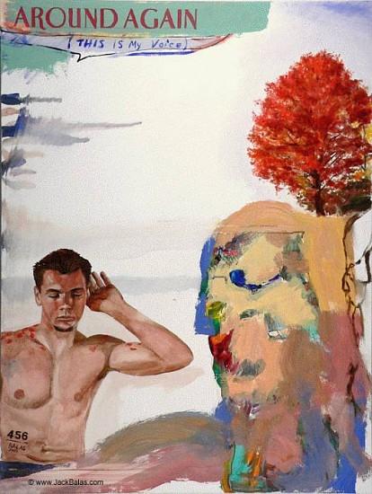 JACK BALAS, AROUND AGAIN oil on canvas