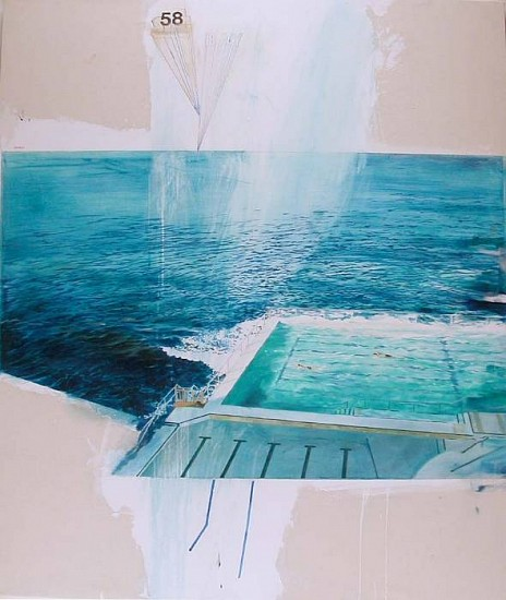 JACK BALAS, AT BAY oil on canvas
