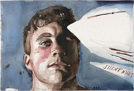 JACK BALAS, SILENT NIGHT watercolor