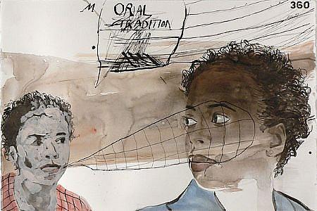JACK BALAS, (M)ORAL TRADITION watercolor