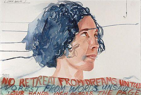 JACK BALAS, NO RETREAT, NO REST watercolor