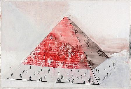 JACK BALAS, PYRAMID mixed media