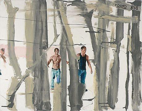 JACK BALAS, FOUND 358 oil on canvas
