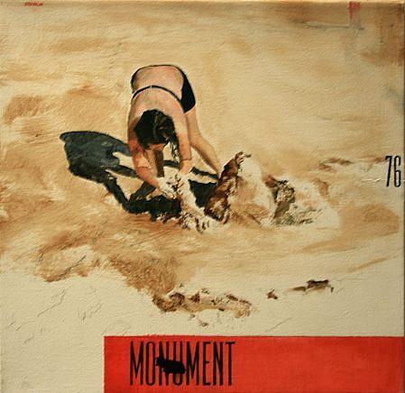 JACK BALAS, MONUMENT oil on canvas