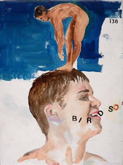 JACK BALAS, SONG OF BIRDS #1 oil on canvas