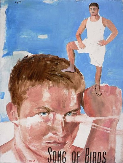 JACK BALAS, SONG OF BIRDS #3 oil on canvas
