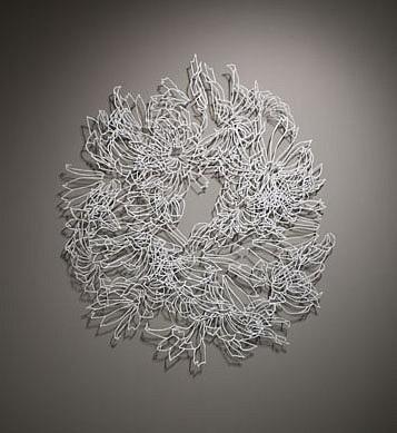 KATY STONE, BOOM BLOOM (MANDALA) painted aluminum