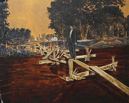STEPHEN BATURA, charles acrylic on canvas