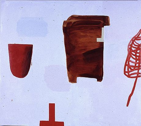 DALE CHISMAN ESTATE, RED WORDS oil on canvas