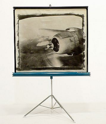 GARY EMRICH, OCTOBER 1960 OVER MT. HOOD liquid photo emulsion on projection screen