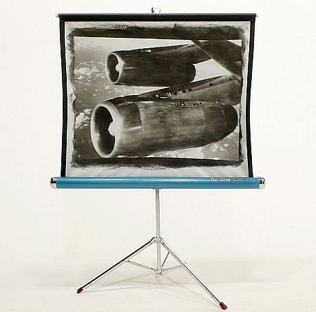 GARY EMRICH, SEPTEMBER 1969 OVER THE ATLANTIC liquid photo emulsion on projection screen