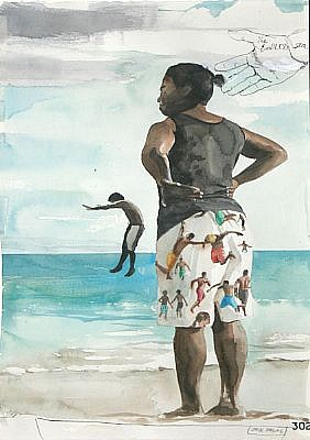 JACK BALAS, THE ENDLESS SEA watercolor