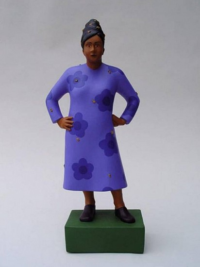 TOM NUSSBAUM, BEE WOMAN acrylic on resin