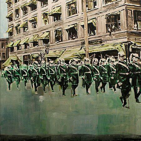 STEPHEN BATURA, followers acrylic on panel