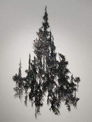 KATY STONE, FOREST acrylic on Duralar