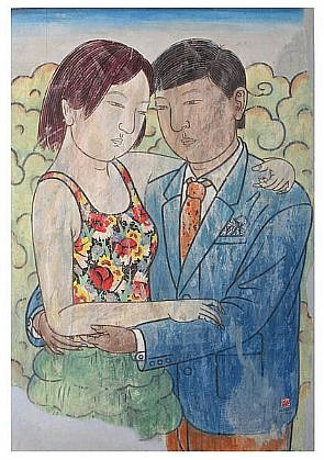 HE JIAN, SOMETIME 5 Chinese pigment and ink on rice paper