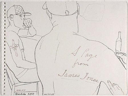 JACK BALAS, HNL O7 #64 JAMES JONES ink on paper
