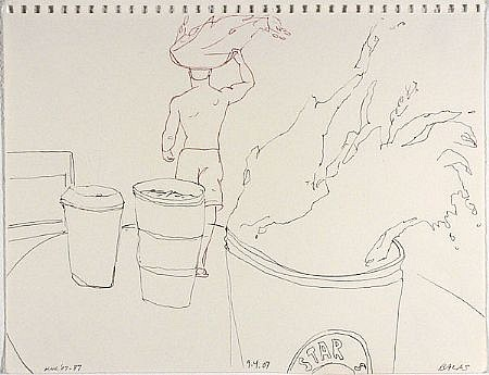 JACK BALAS, HNL O7 #87 STARS ink on paper