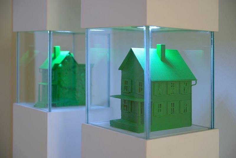 BRANDON BULTMAN, PRESERVATION: HOME enamel on polystyrene and polyurethane foam, glass, wood