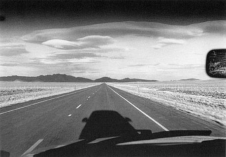 CHUCK FORSMAN, Home stretch, central Wyoming black & white photograph