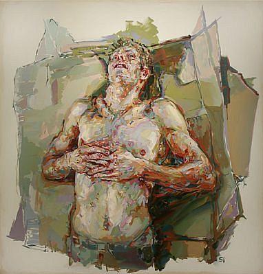 "STEFAN KLEINSCHUSTER, ""LEVITATION SERIES"" oil on canvas"