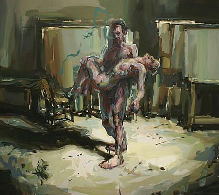 STEFAN KLEINSCHUSTER, UNTITLED oil on canvas