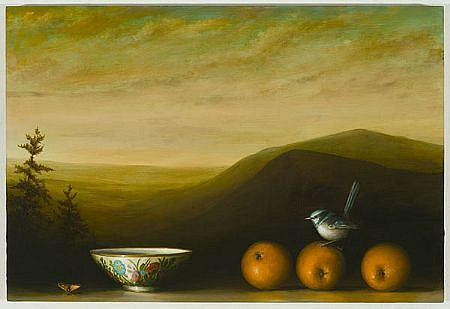 DAVID KROLL, ORANGES AND BOWL oil on linen
