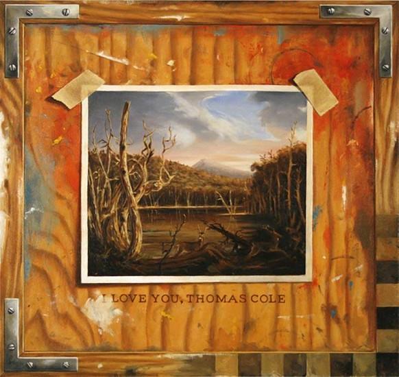 JERRY KUNKEL, love - thomas cole oil on canvas