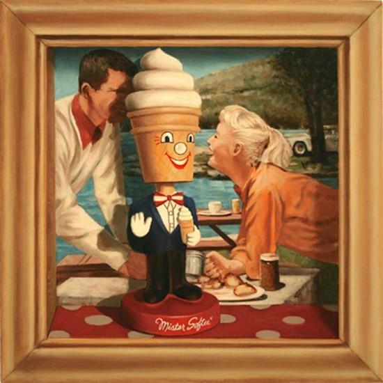 JERRY KUNKEL, mr. softee oil on canvas