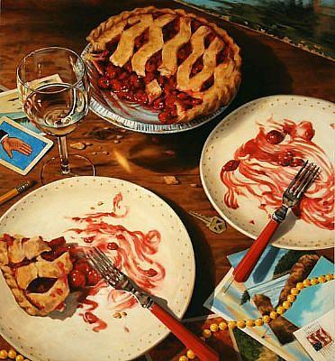 JERRY KUNKEL, AFTER DINNER oil on canvas