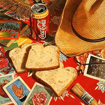 JERRY KUNKEL, BREAKFAST oil on canvas