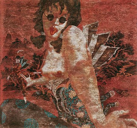 LU PENG, CHIVALROUS WOMAN watercolor