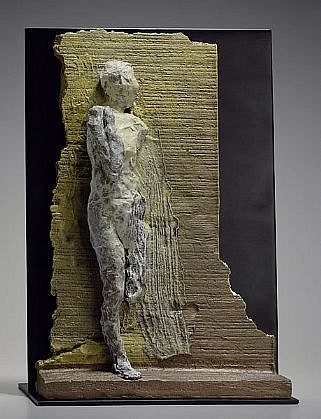 MANUEL NERI, MAHA - BRONZE MAQUETTE VI 2/4 w/stand bronze with oil-based pigments