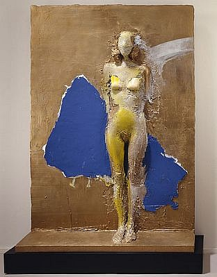 MANUEL NERI, MUJER PEGADA SERIES No. 7 1/4 w/base bronze with oil-based pigments